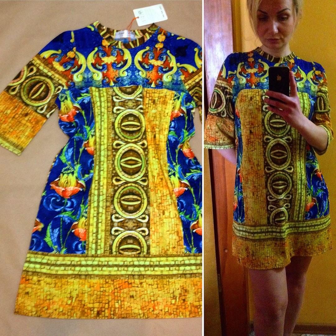 Платье с принтом Vercace