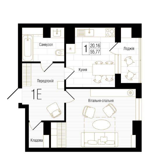ТЕРМІНОВО! Знижки на простору 1к. квартиру в ЖК NEW YORK Concept House