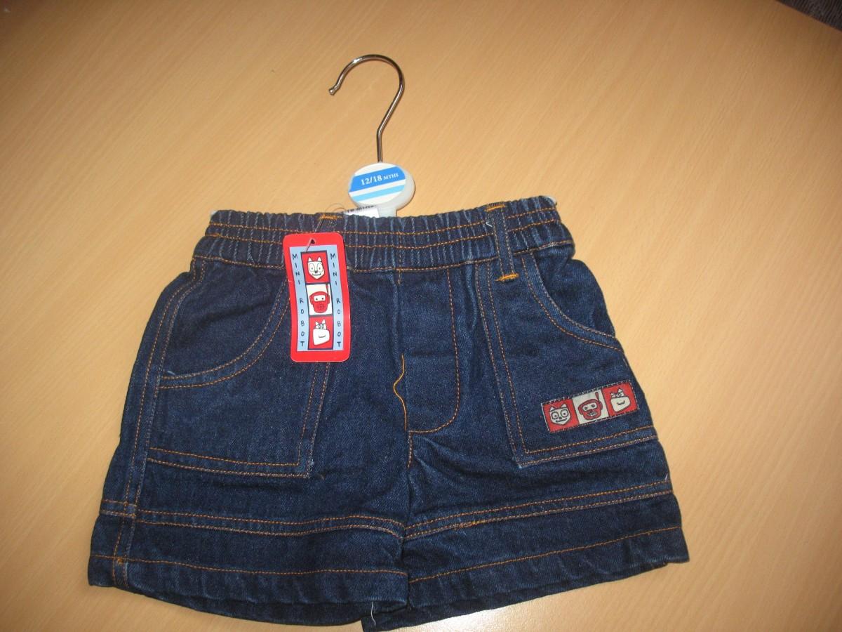 Продам нові джинсові шорти на хлопчика 1-1,5 років - 90 грн.