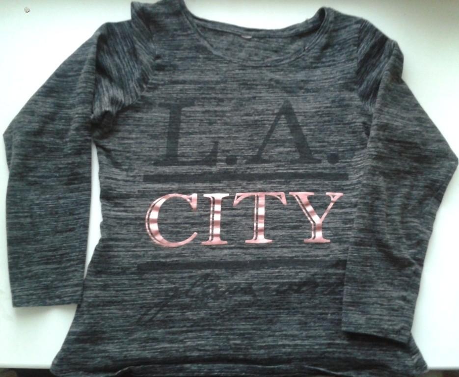 Плотная футболка с длинным рукавом L.A. city.