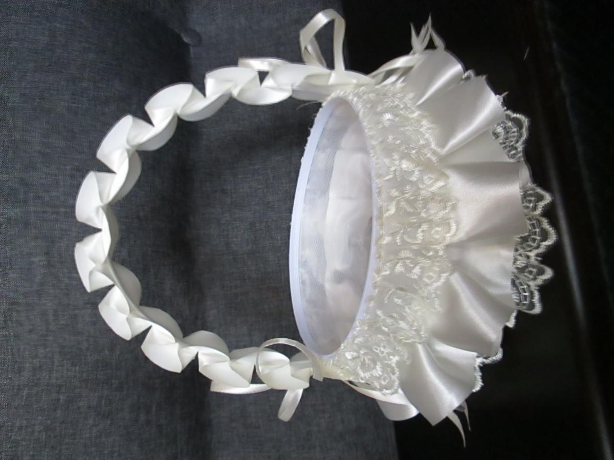 Корзина для лепестков роз на свадьбу