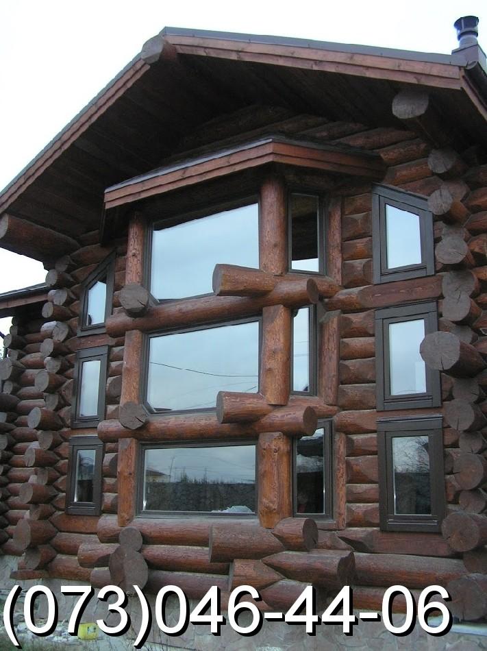 Деревянные oкнa из трехслoйнoгo еврo брусa.