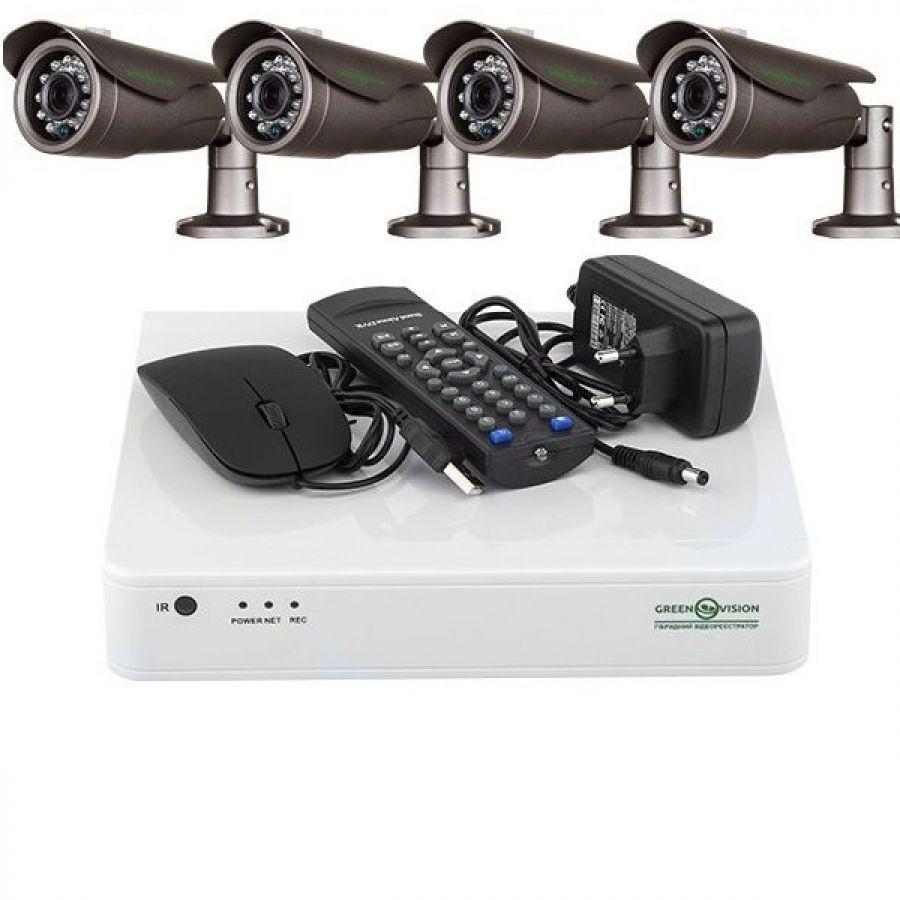 Якісний заводський набір відеоспостереження AHD GreenVision.Дешево