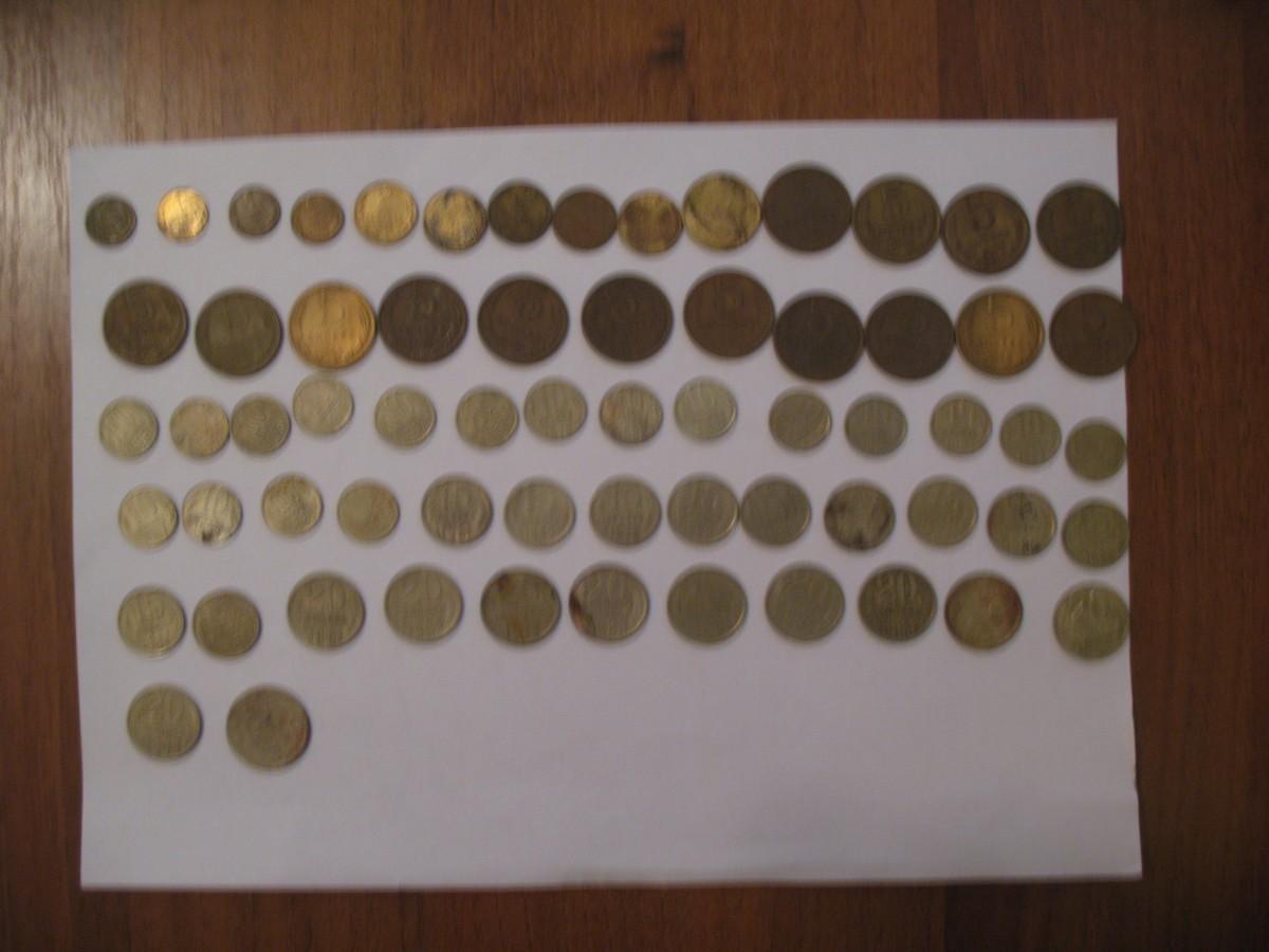 Продам погодовку обиходных советских монет 1961-1991 гг. Количество - 64 шт. - 137 грн.