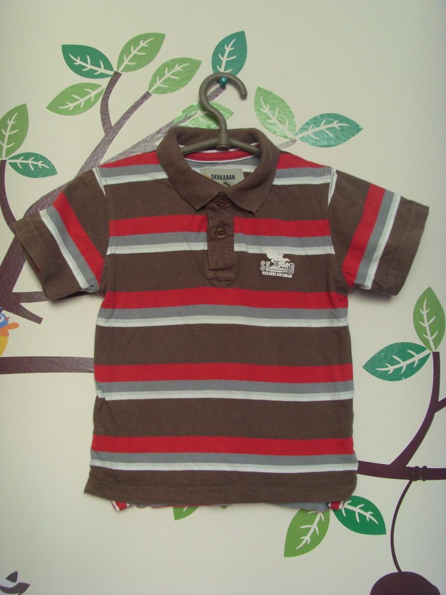 Поло футболка на мальчика ZARA коричневая и розовая