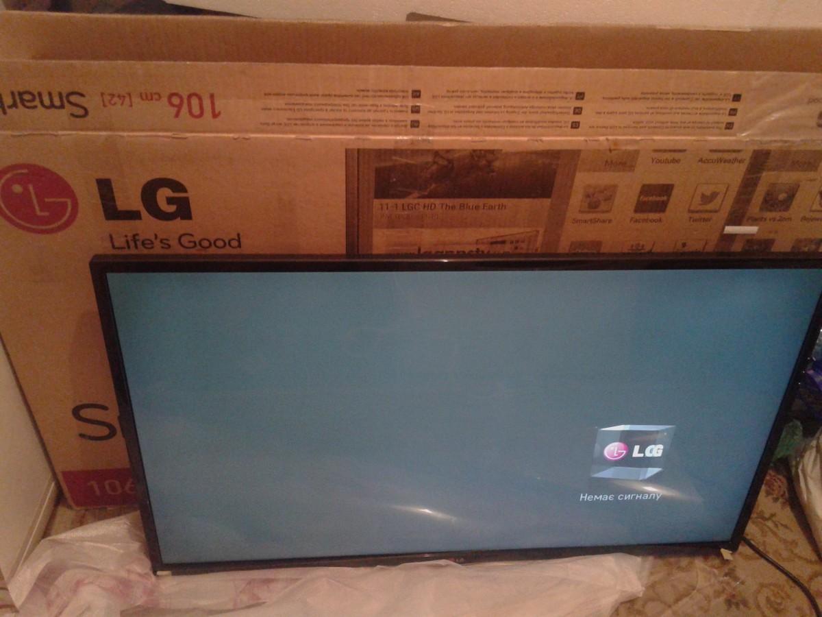 Продам LED TV LG 42LN570V в оригинальной упаковке, в хорошем состоянии