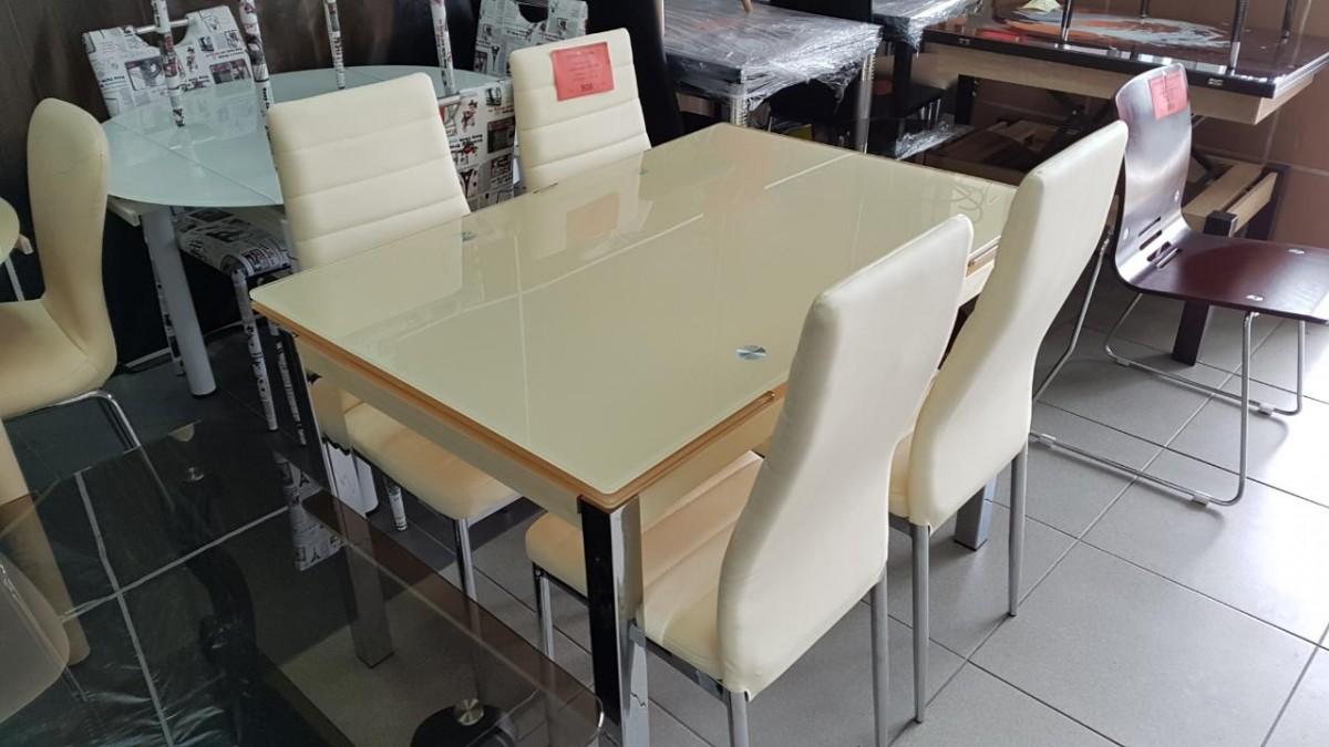 Стол стеклянный раскладной ТВ014