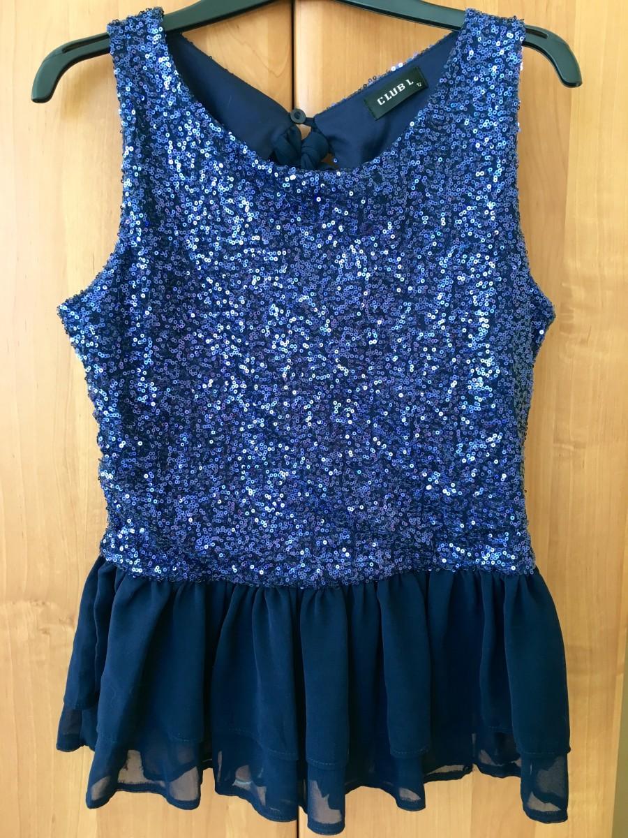 Потрясающе красивая блуза топ в пайетках британский бренд CLUB L как новая