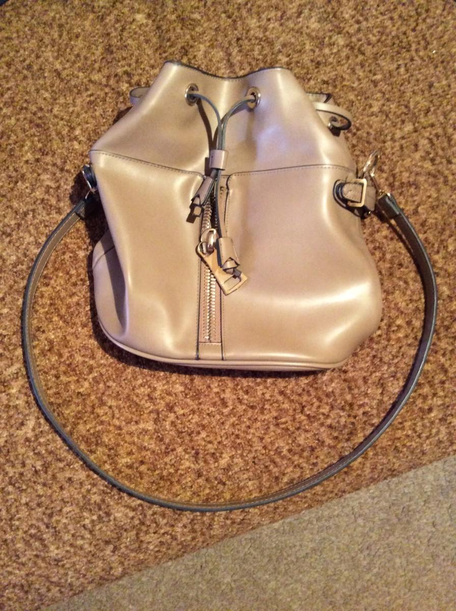 Кожаная сумка-рюкзак Zara