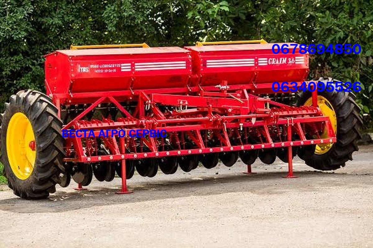 Сеялка зернотуковая Grain 3,6 прикатывающие катки, м/р15см.