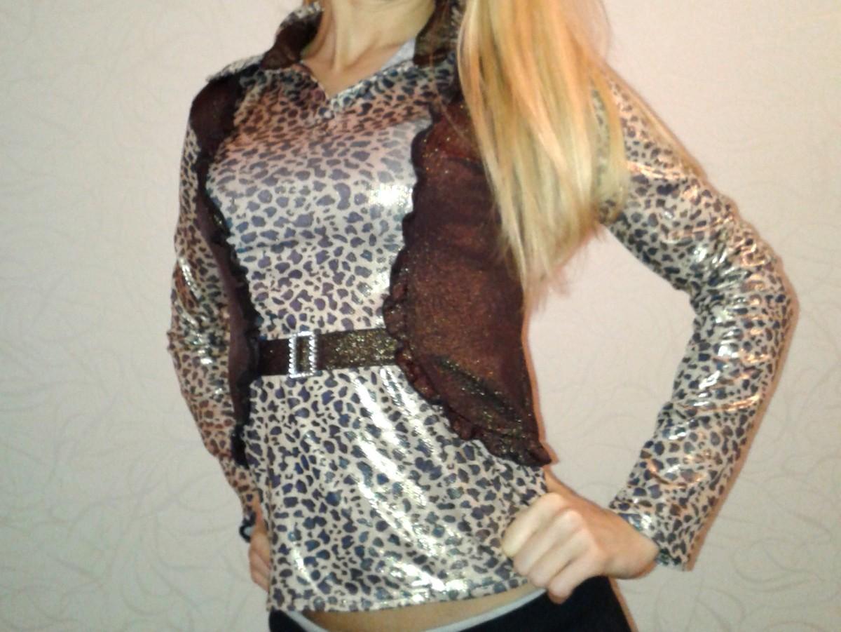 Эффектная леопардовая блуза