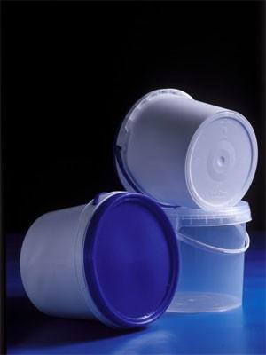 Ведро пластиковое с крышкой 3,4л