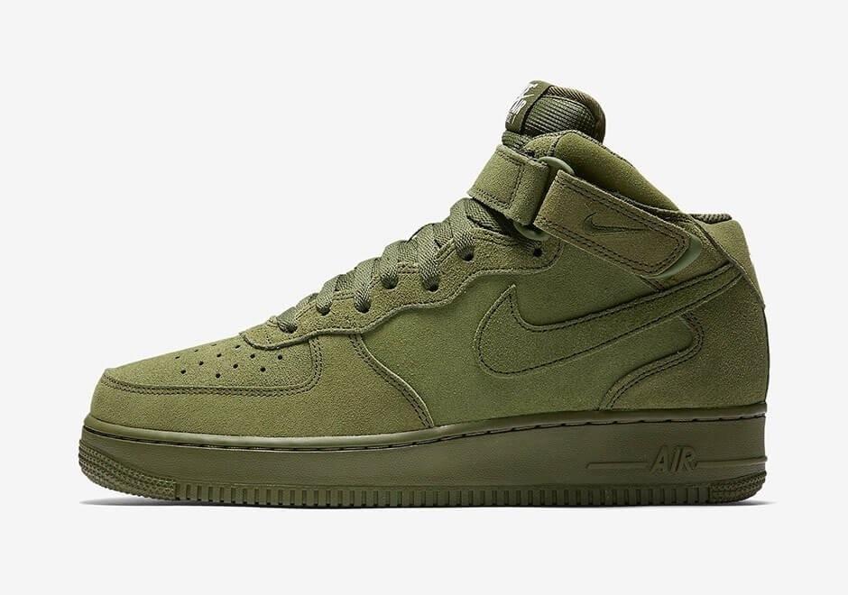 Мужские кроссовки Nike Air Force 1 Mid Legion Green
