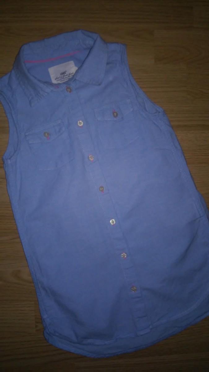 Джинсовая рубашка H&M на рост 134 см.