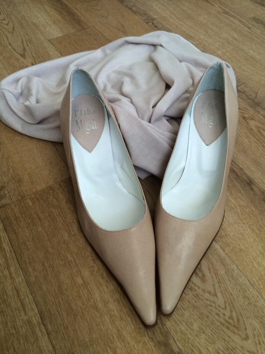 Натуральная кожа туфли vero cuoio (италия), лодочки, пудра 37р
