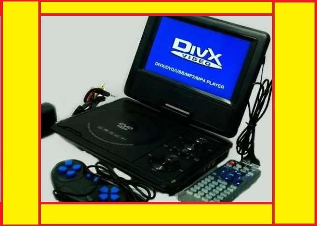 Акция!! Портативный DVD плеер 789 аккумулятор, tv тюнер и usb