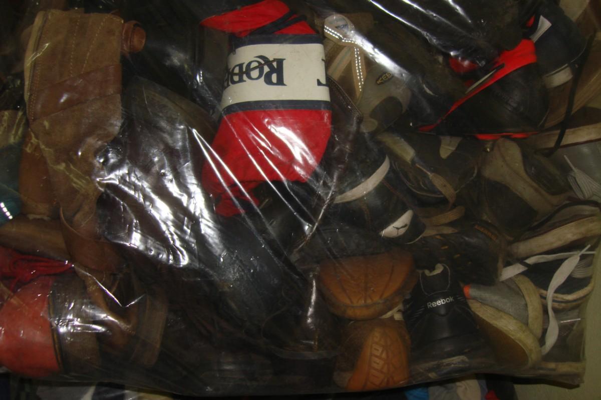 Женская обувь сортировка секонд-хенд Англия