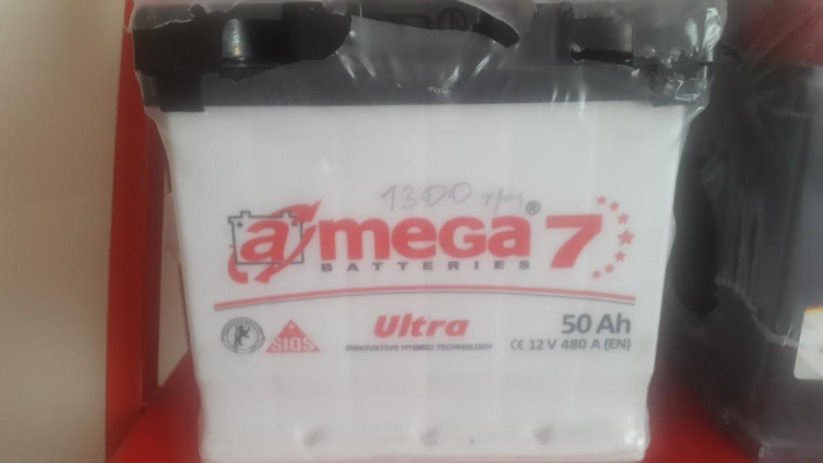 Аккумулятор для автомобиля 12В, 50Ah, 480A
