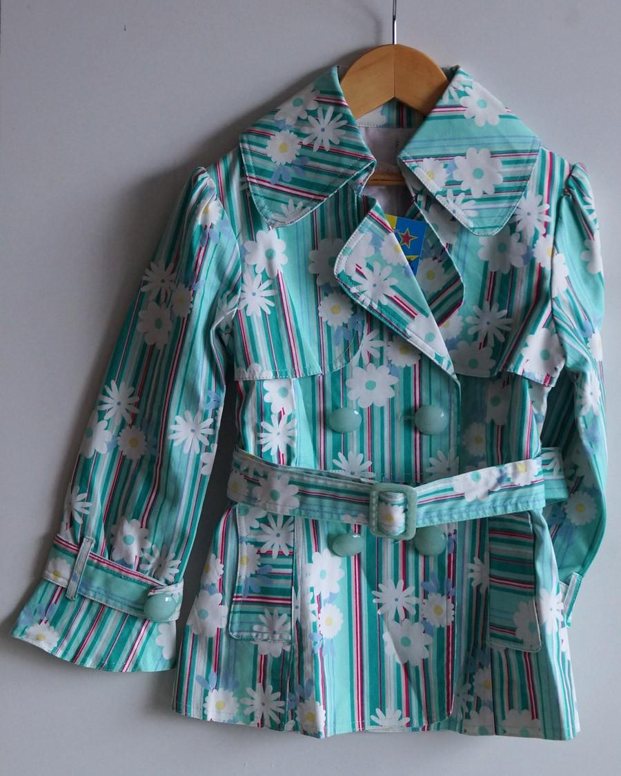 Цветочный плащ Shirley Temple для маленькой модницы 3-5 лет