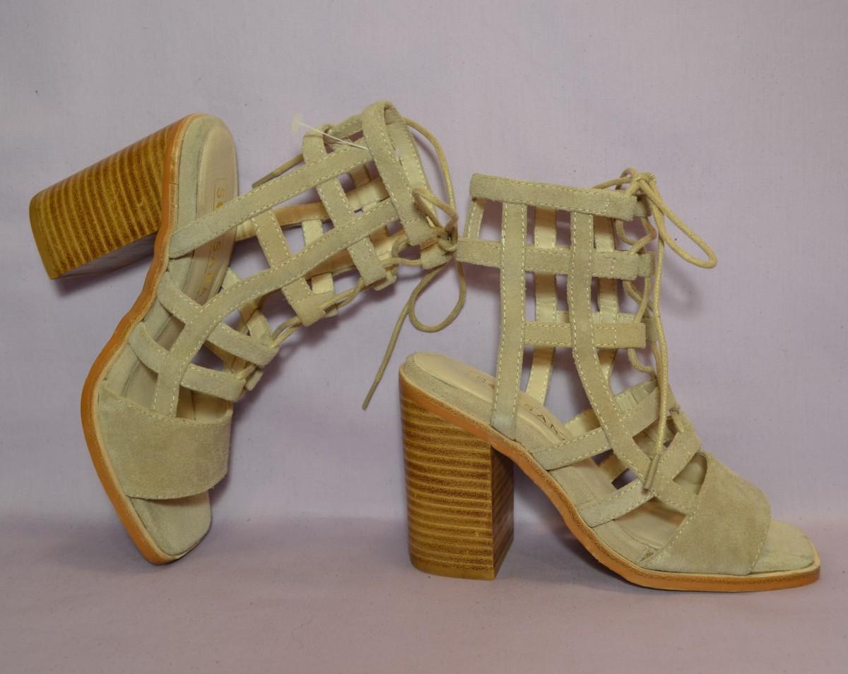 р35 SOL SANA,Испания,натуральная кожа!Уютные,модные босоножки сандалии