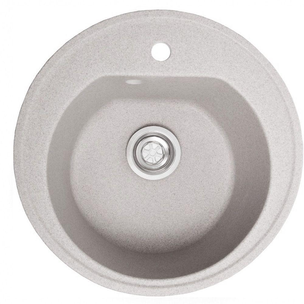 Мойка из искусственного камня Galati 51*51 цвет белый мрамор