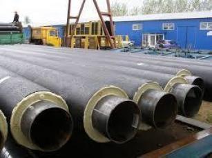 Труба стальная в ПЭ-оболочке диаметром 325/450 мм