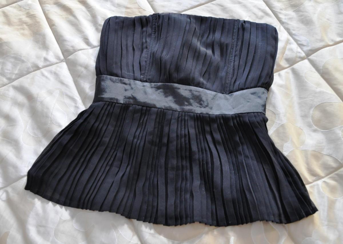 блуза чорна без брительок корсет / черная без брителек S/M