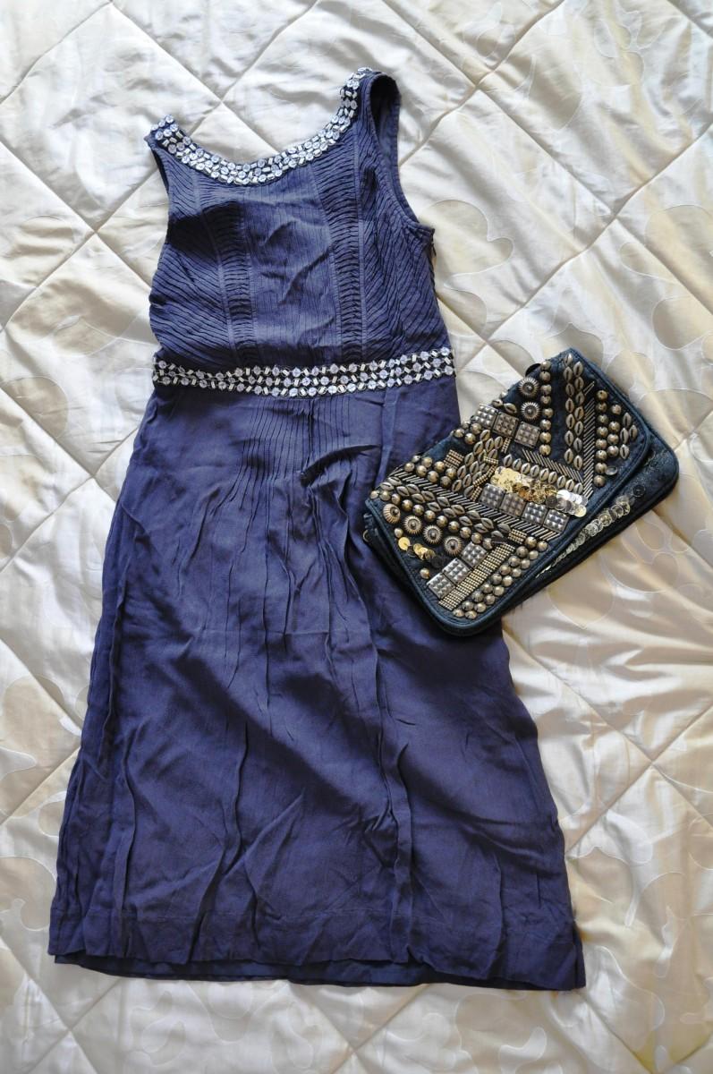 Плаття сіро-синє / платье серо-синее S