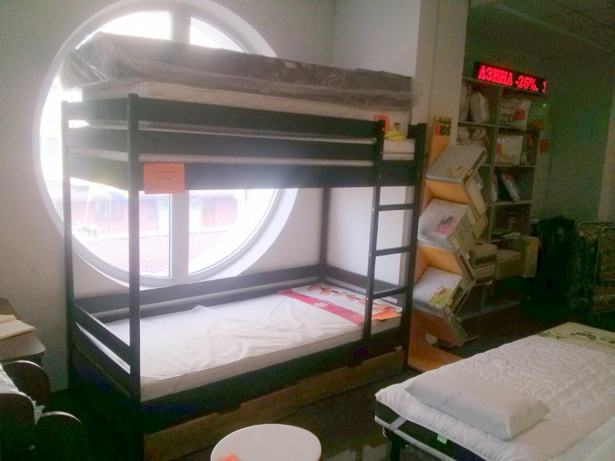 -25% Двухъярусная кровать Дуэт Эстела, 90x200 венге