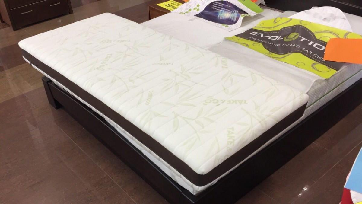 50% скидка на матрас с бамбуковым чехлом и Memory Foam 80х200