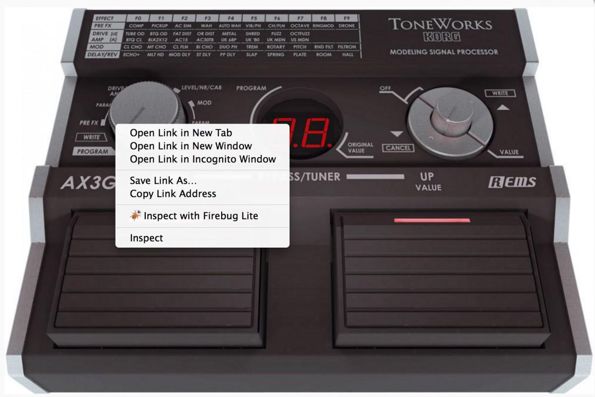 Гитарный процессор KORG ToneWorks AX3G