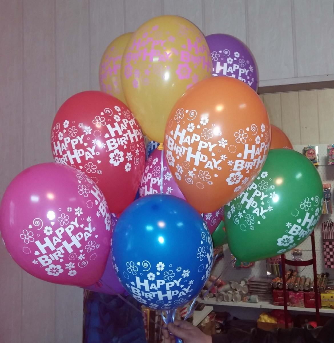 Воздушные шарики с печатью логотипа