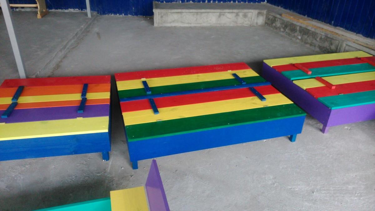 Песочница детская деревянная