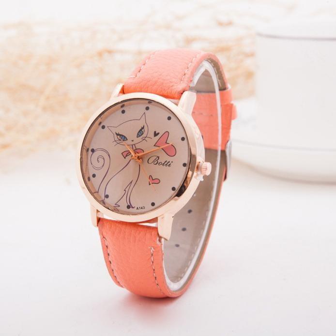 Женские наручные часы Botti, кораловые TW03621K