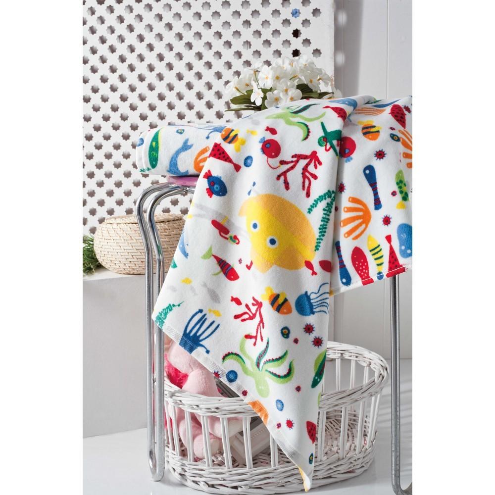 Детское мягкое махровое полотенце с забавным рисунком