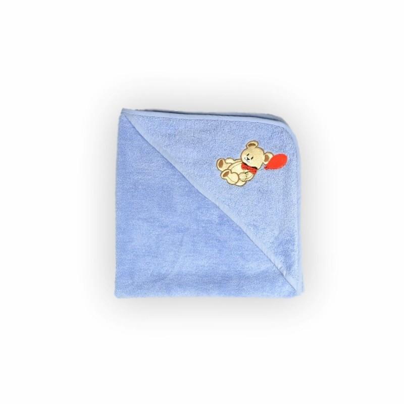 Полотенце-уголок с капюшоном для купания