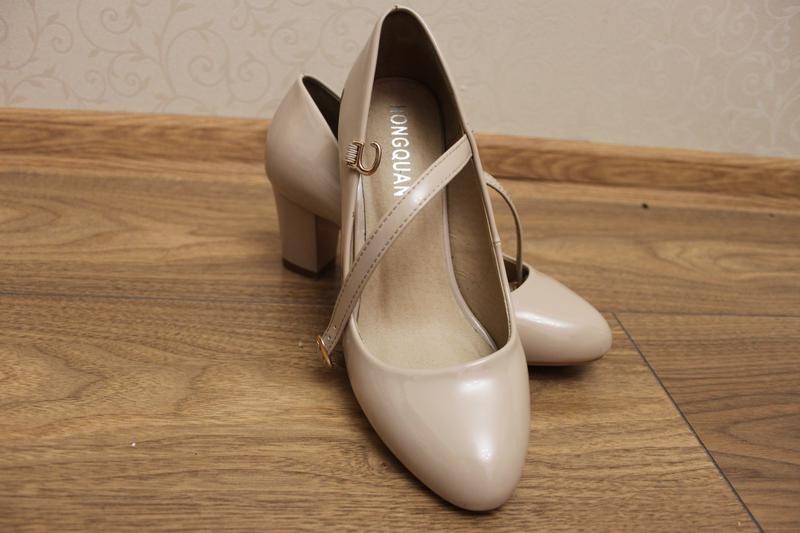 туфли, для золушки, кож зам, лак,цвет капучино