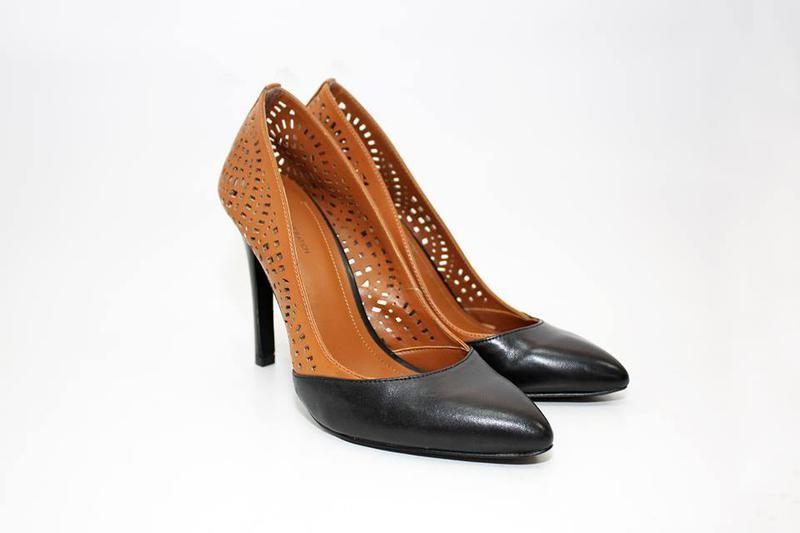 Туфли, каблук, коричневый, лодочки, новые!