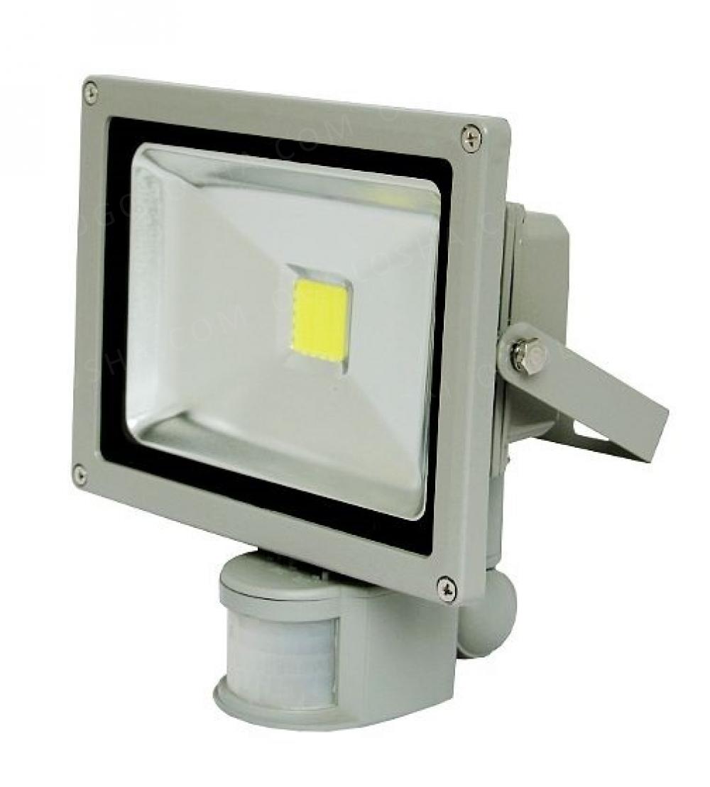 LED Светодиодный прожектор 10Вт, 20Вт, 30Вт, 50Вт + датчик движения