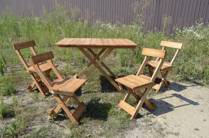 Раскладной стол 1шт и стулья 4шт плюс мангал. Туристическая мебель