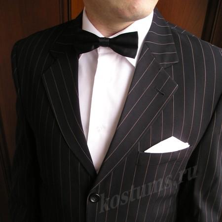 Фирменный классический черный костюм двойка, 50 % шерсть