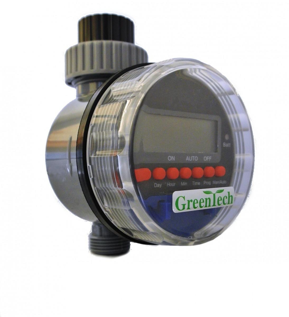 Таймер автоматического полива с шаровым клапаном.