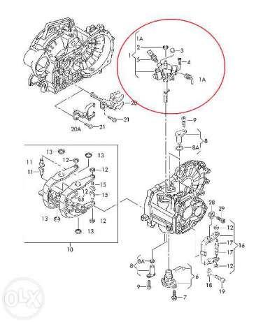 Механизм переключения КПП на VW Т4