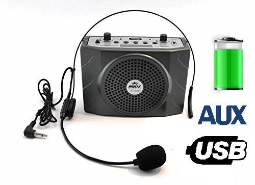 Громкоговоритель на пояс KU-898 25W (USB/аккумулятор)