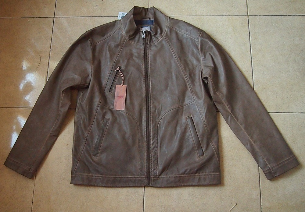 Куртка из кофейного кожзама Devred 54 Франция
