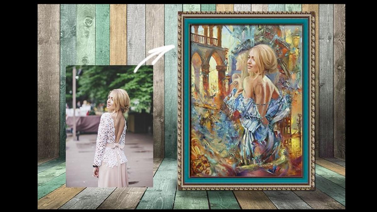 Картина на заказ по фотографии от студии цифровой живописи Арт-Портрет