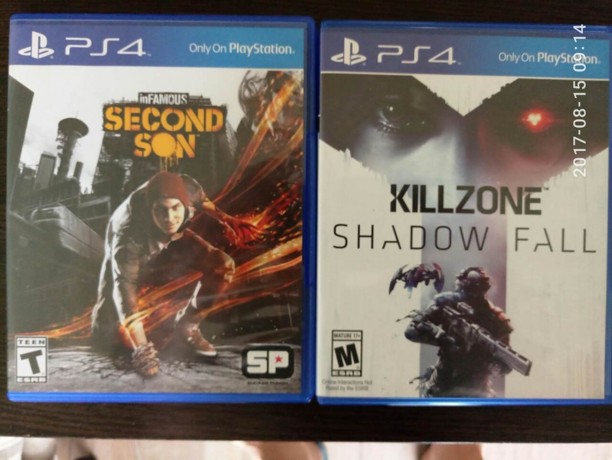 Обмен infamous second son + killzone shadow fall PS4