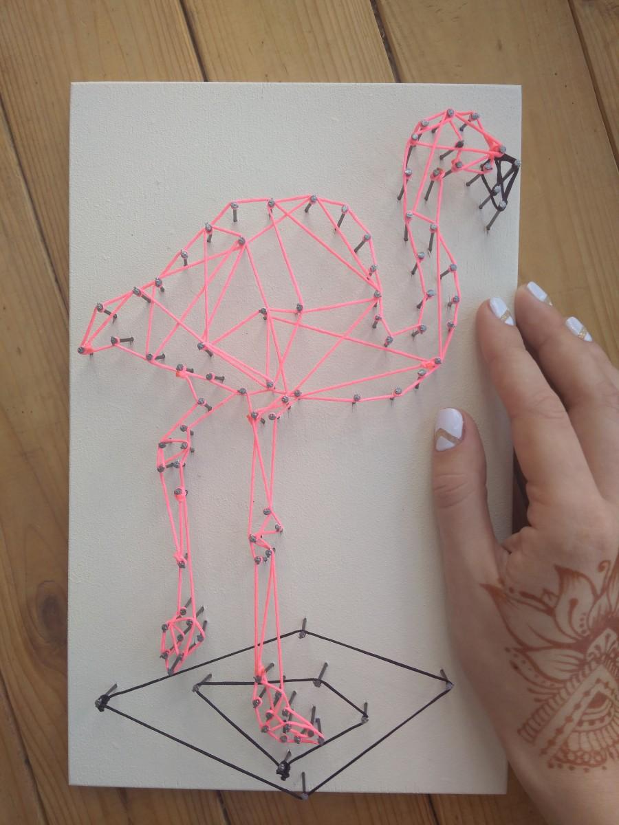 картина в технике стриг арт