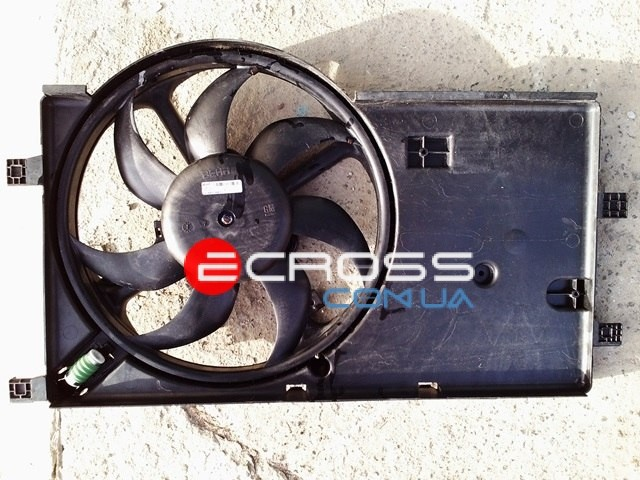 Вентилятор радиатора с корпусом б.у.Nemo Bipper Fiat fiorino Qubo