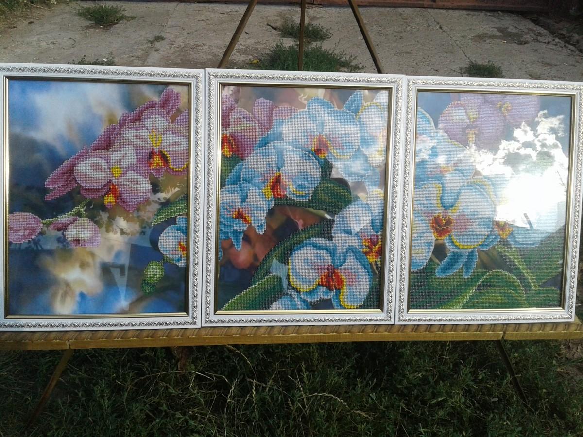 Продам триптих из бисера